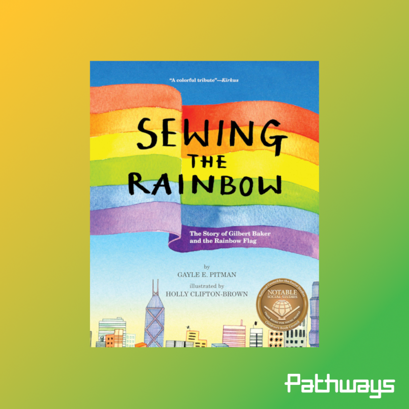 "the cover of the book ""Sewing the rainbow"""