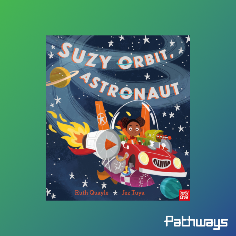 The cover of the book Suzy Orbit, Astronaut
