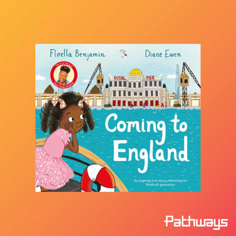 "The cover of the book ""Coming to England"""