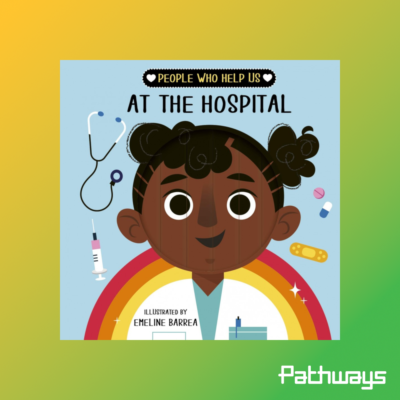 "The front cover of the book ""people who help us at the hospital"""