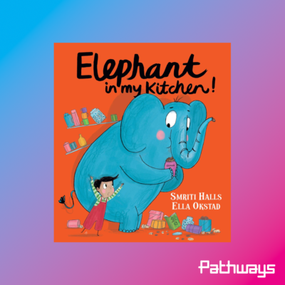 The cover of the book Elephant in my kitchen