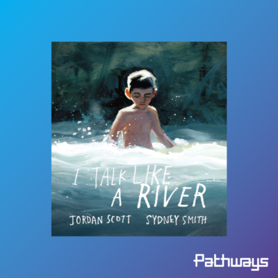 """The cover of the book """"I Talk Like a River"""""""
