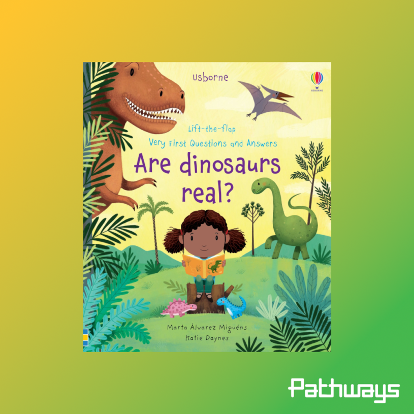 """The cover of the book """"Are Dinosaurs Real?"""""""
