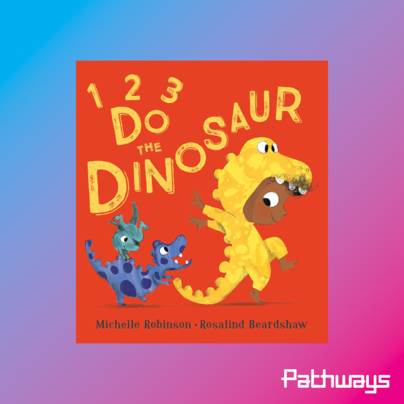 the cover of the book 1, 2, 3, do the dinosaur