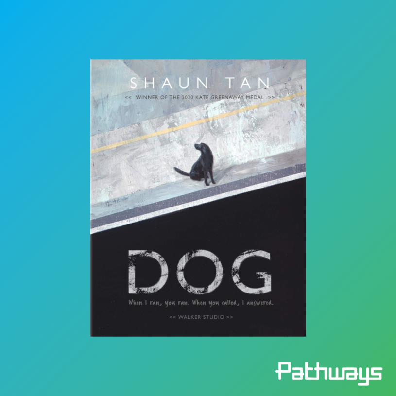The cover of the book 'Dog' by shaun tan