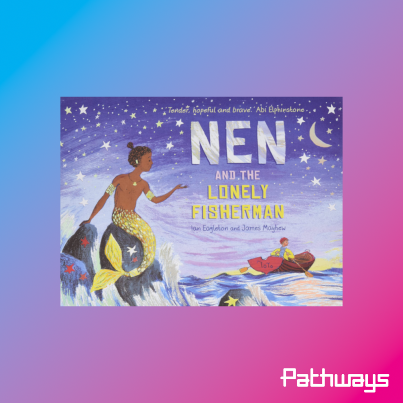 """the cover of the book """"Nen and the lonely fisherman"""""""